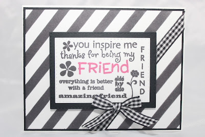 Black and White Friend Card