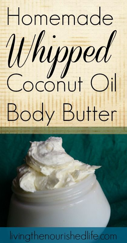 Homemade Body Butter Recipe Whipped Coconut Oil