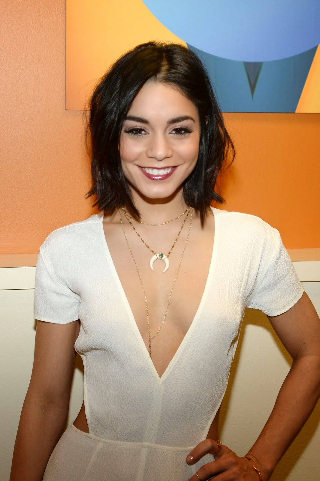 Vanessa Hudgens in hot plunging outfit