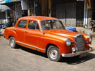 Mercedes in Yangon