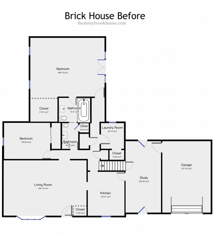 Brick House Before Plan