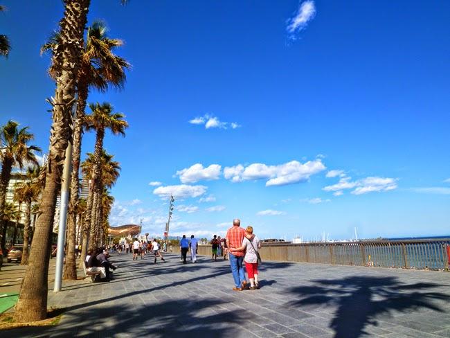 Paseo de la playa La Barcelona