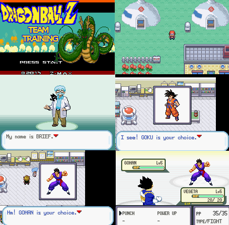Dragon Ball Z Team Training GBA ROM Download