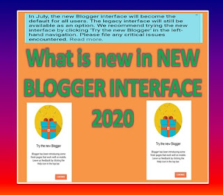 what is new in New Blogger interface 2020, changes in new blogger interface, legacy interface vs new interface