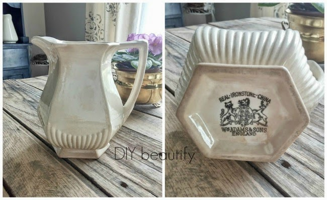 DIY beautify blog antique pitcher