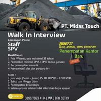 Walk In Interview at PT. Midas Touch Surabaya Januari 2021