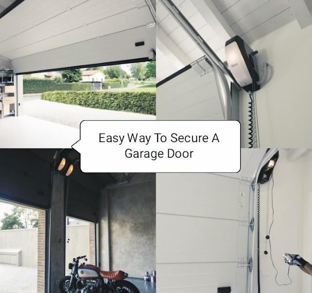 secure a garage door