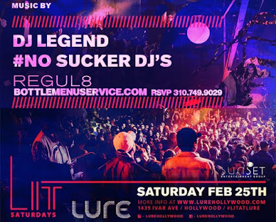 Lure Nightclub LIT Saturdays 2017 February 25th