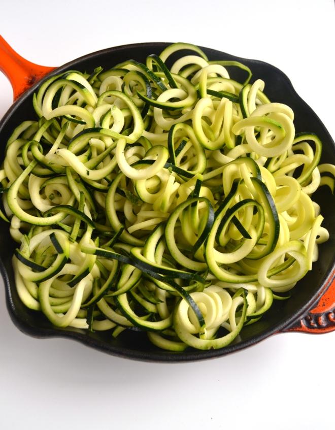 Zoodles- zucchini noodles