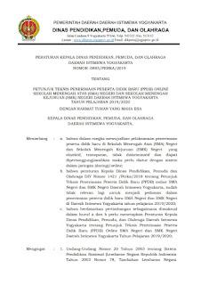 Informasi Zonasi Penerimaan Peserta Didik Baru (PPDB) SMA dan SMK Tahun Pelajaran 2019-2020 Provinsi Daerah Istimewa Yogyakarta (DIY)