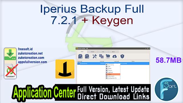 Iperius Backup Full 7.2.1 + Keygen