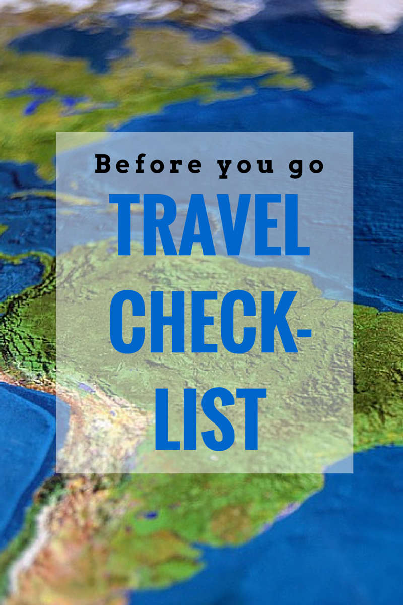 Before you leave town, make sure you check off this list to keeping that vacation smooth and hassle-free. (TheHealthMinded.com) #travel