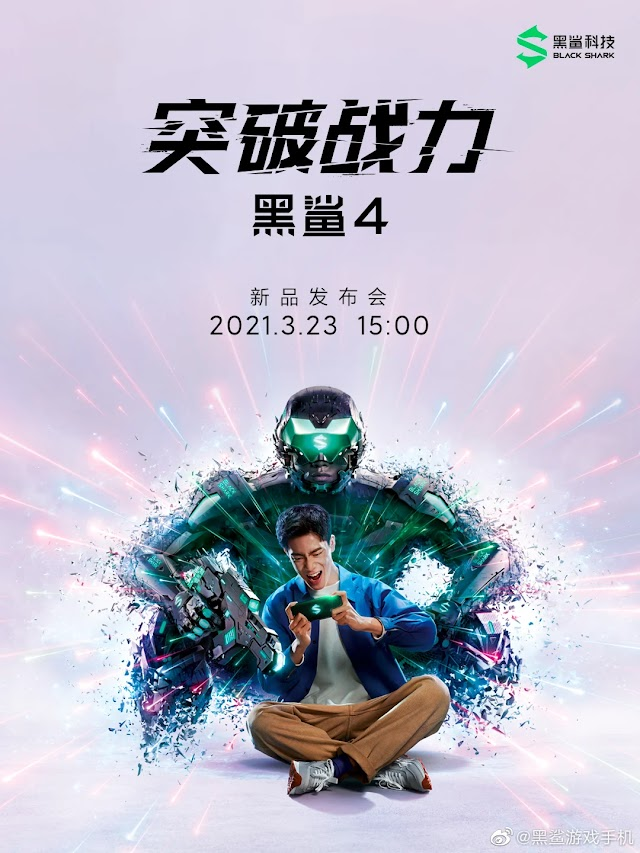 BLACK SHARK  REVILED THE LAUNCH DATE OF BLACK SHARK 4 SERIES; LAUNCHING ON MARCH 23