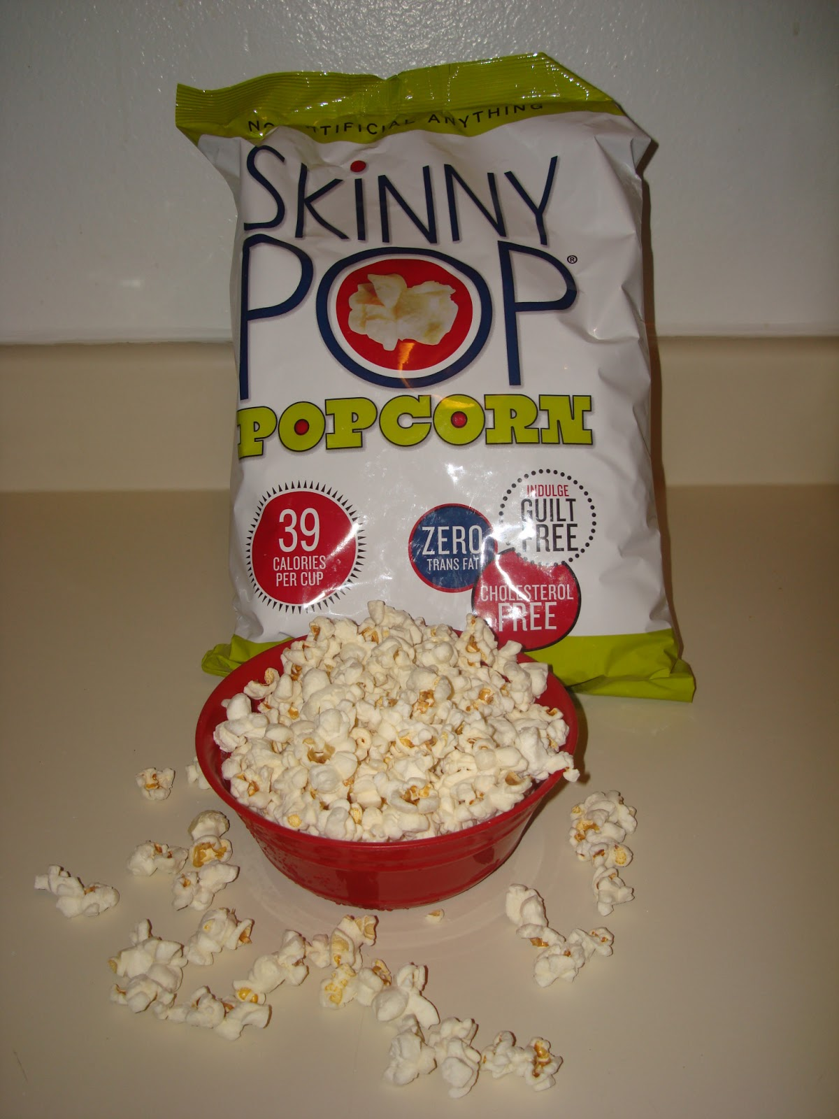 No that is not just an over flowing bowl of popcorn, it is 1 serving of  Skinny Pop. 4 whole cups and only 155 calories! To tell you the truth  though is ...