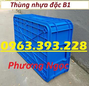 Thùng nhựa đặc B1, sóng nhựa công nghiệp, thùng nhựa có nắp, hộp nhựa linh kiện TN%25C4%2590B12
