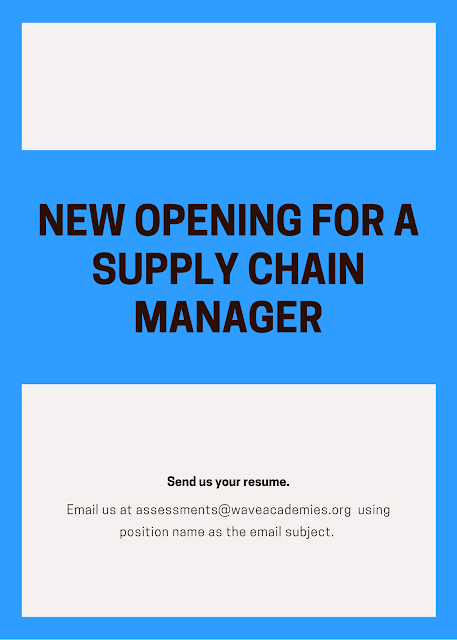 OPENING FOR A SUPPLY CHAIN MANAGER