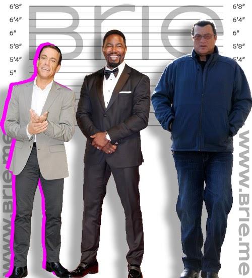 Jean-Claude Van Damme, Michael Jai White, and Steven Seagal height comparison