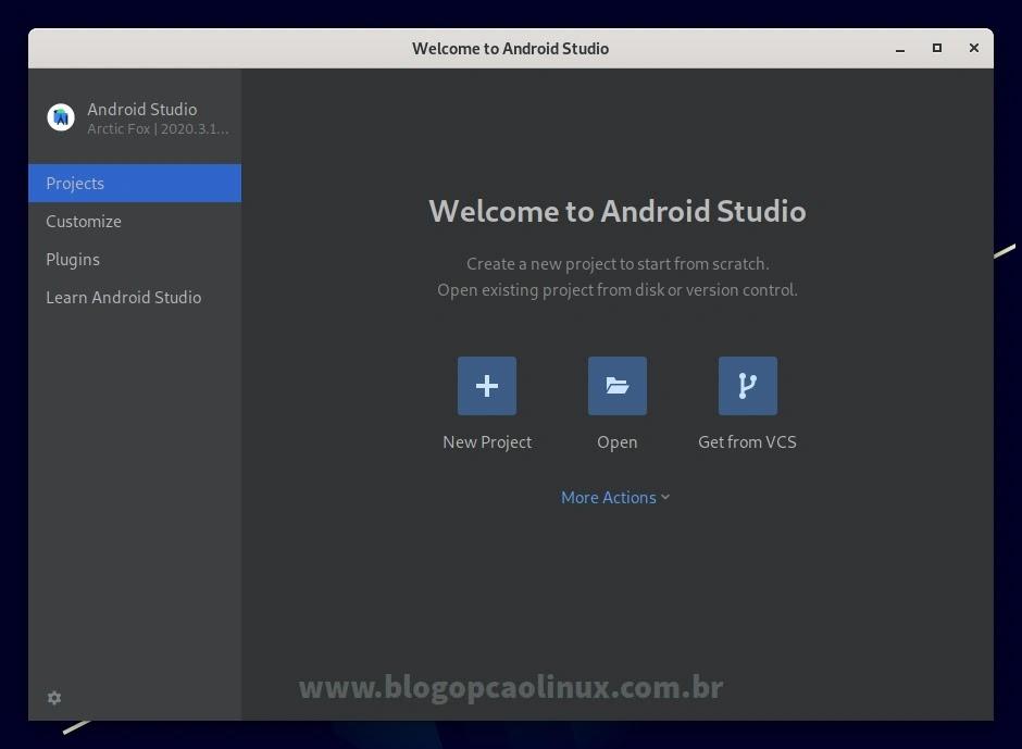 Android Studio executando no Debian 11 Bullseye