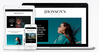 Jhonsons Blog blogger template 2018