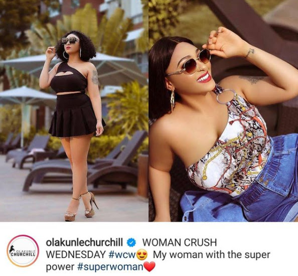 My woman with the super power- Olakunle Churchill gushes over his Wife Rosy Meurer