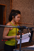Actress Catherine Tresa Pos during Self Dubbing for Gautham Nanda Movie  0063.JPG