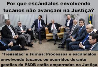 Resultado de imagem para Porque escandalo tucano não avançam na justiça?