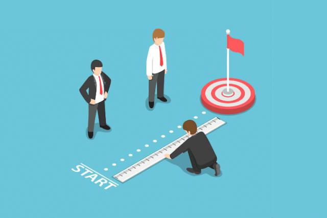 Cara menghitung persentase Achievement yang di dapatkan dari target