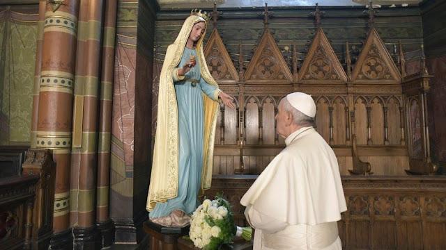 FÉ: Papa conclui mês mariano com a oração do Terço nos Jardins Vaticanos
