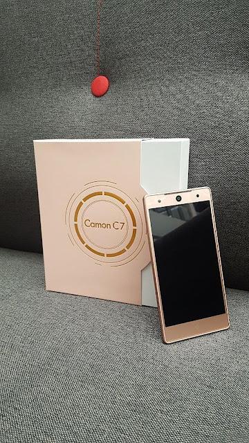Tecno Camon C7 rose gold color
