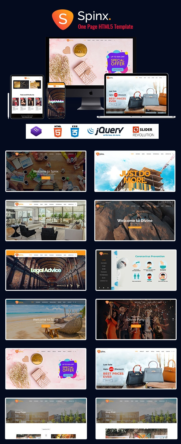 Download Multipurpose One Page Parallax Template