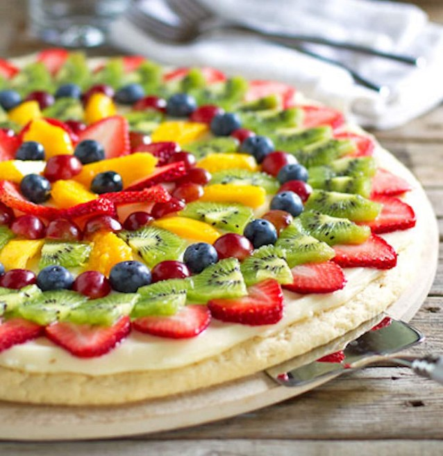 Fruit Pizza #easyrecipe #desserts