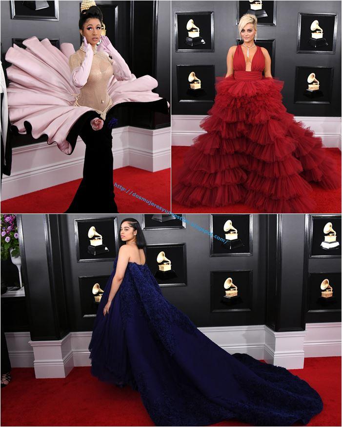 967dd99e35 Grammys 2019  los vestidos y más - Dos mujeres y un vestido