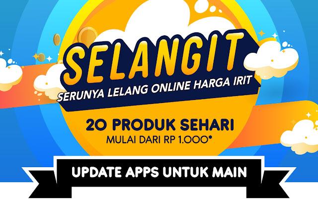 #BliBli - #Promo SELANGIT Serunya Lelang Online Harga Irit Mulai 1K (s.d 31 Maret 2019)