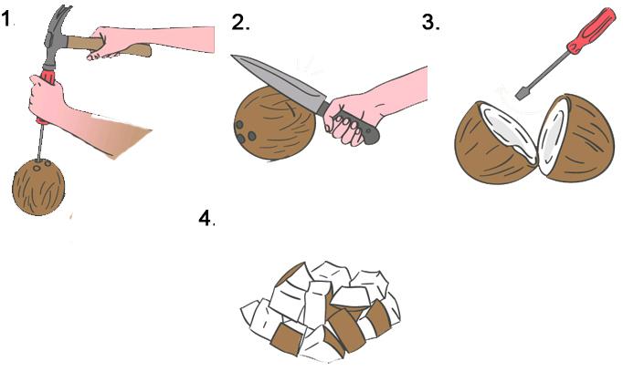 jak szybko obrać kokos