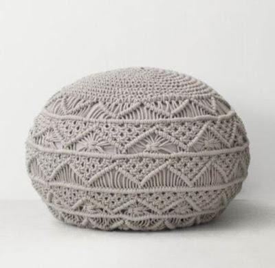 Decoração com macramê e crochê