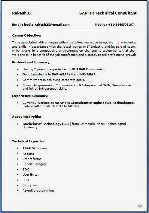 Email Resume Format Best Formats For Sending Job Search Emails Easy - sap abap resume sample