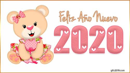peluche feliz año nuevo 2020
