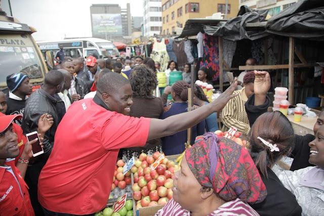 Johnson Sakaja in the Market. PHOTO | FILE