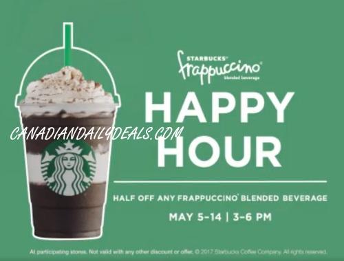 Starbucks Frappuccino Happy Hour Half Price Frapps
