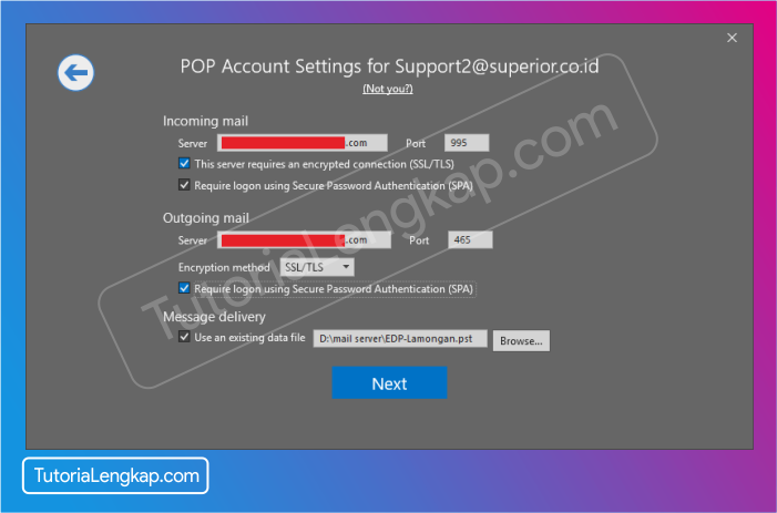 Tutorialengkap 4 Cara setting email pada Microsoft outlook 2019