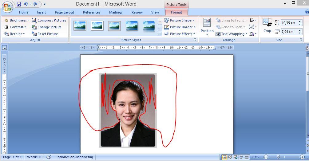 Cara Menghilangkan Background Gambar Foto di MS Word