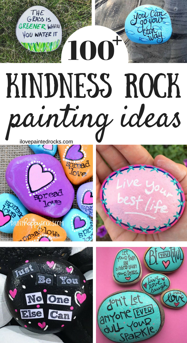 Rock painting ideas to paint on kindness rocks
