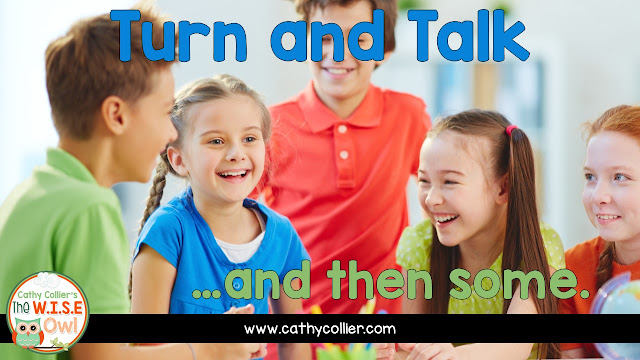 nstead of trying to stifle 5-year-olds, embrace their conversations. Turn and talk...and then some. Let the children talk, but teach them to talk in specific ways about specific things.