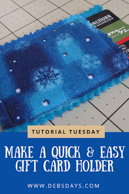 Homemade Quick and Easy Fabric Gift Card Holder Sewing Project