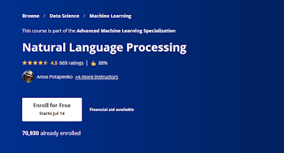 best course to learn natural language processing in Coursera