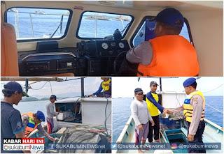 patroli laut oleh polair polres sukabumi