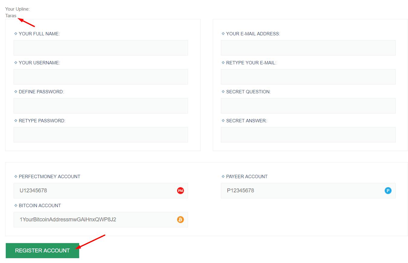 Регистрация в BtCenter 2