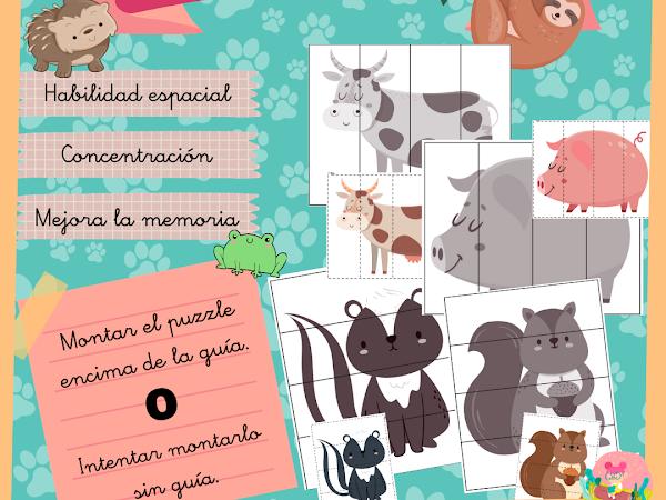 Puzzles de animales (Primera Parte)