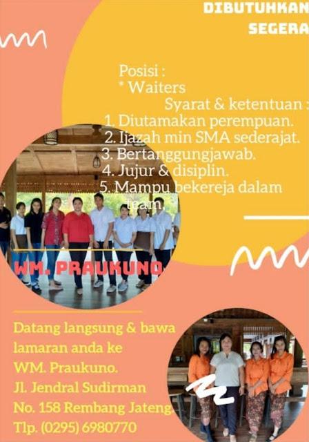 Lowongan Kerja Pegawai Warung Makan Praukuno Rembang