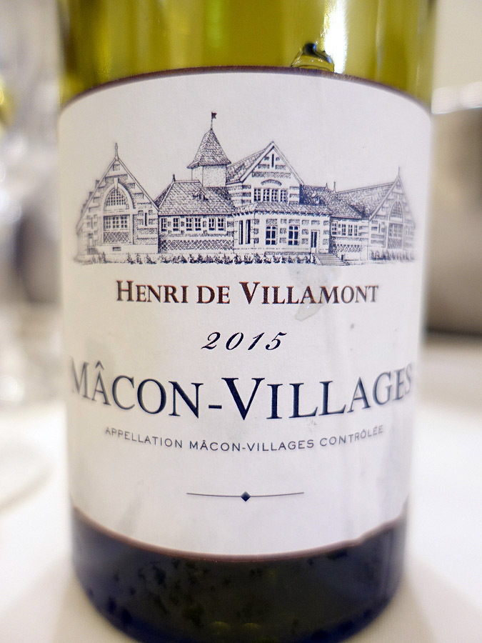 Henri de Villamont Macon-Villages 2015 (89 pts)